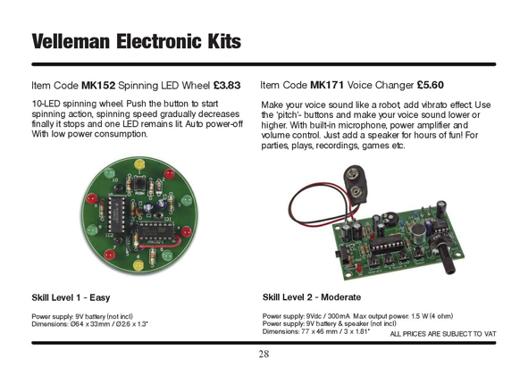 Velleman Electronic Kits